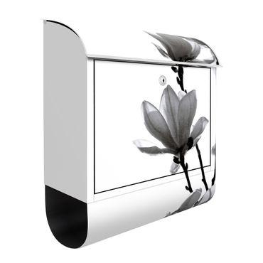 Briefkasten - Frühlingsbote Magnolie Schwarz Weiß