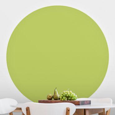 Runde Tapete selbstklebend - Frühlingsgrün