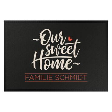 Fußmatte + Name - Our sweet home Wunschtext