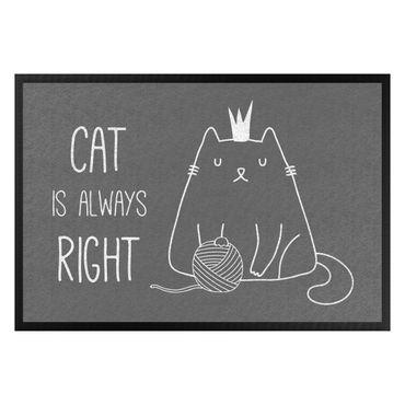 Fußmatte - Cat is always right