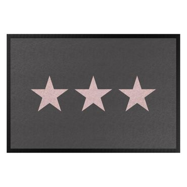 Fußmatte - Drei Sterne anthrazit rosé