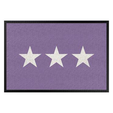 Fußmatte - Drei Sterne flieder