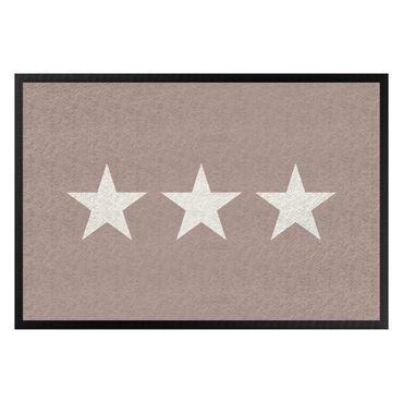 Fußmatte - Drei Sterne taupe