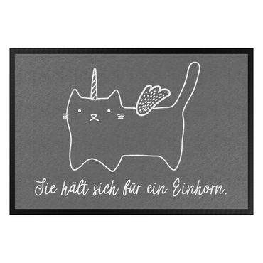 Fußmatte - Einhorn-Katze