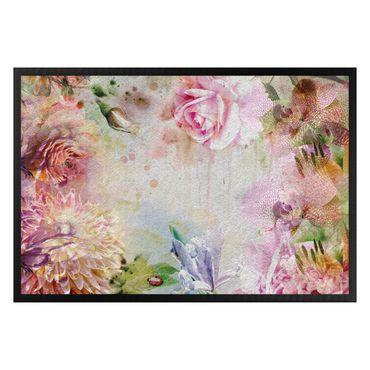 Fußmatte - Floral Watercolor