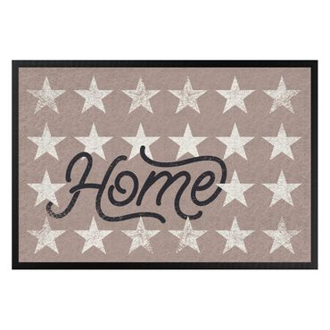 Fußmatte - Home Sterne taupe