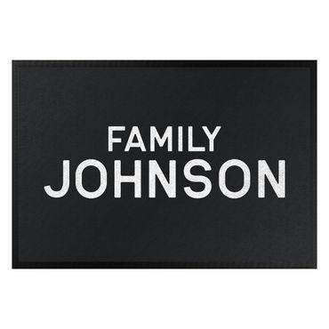 Fußmatte mit Wunschtext - Family Surname