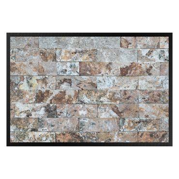Fußmatte - Naturmarmor Steinwand