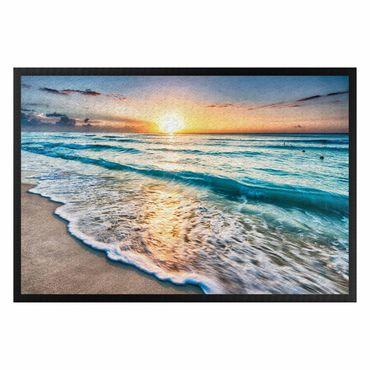 Fußmatte - Sonnenuntergang am Strand