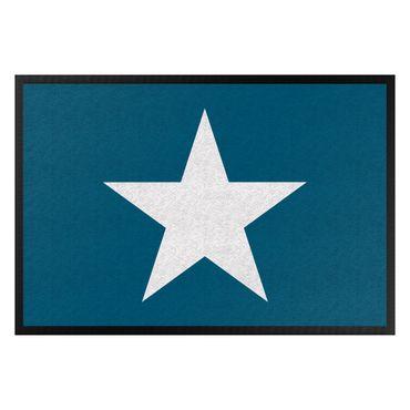 Fußmatte - Stern in blau