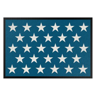 Fußmatte - Sterne versetzt blau