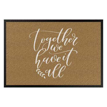 Fußmatte - Together we have it all