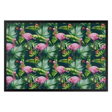 Fußmatte - Tropical Flamingo pattern