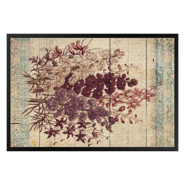 Fußmatte - Vintage Blüten II