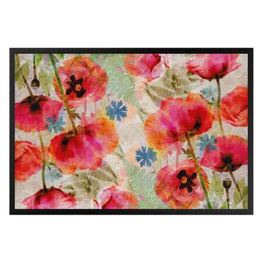 Fußmatte - Watercolor Poppies