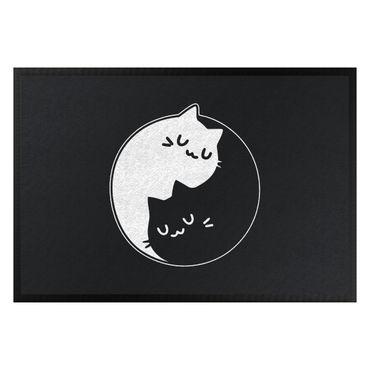 Fußmatte - Yin und Yang Katzen