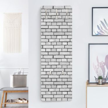 Garderobe - Backstein Mauer Weiß