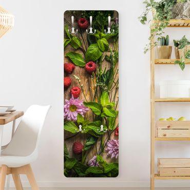 Garderobe - Blumen Himbeeren Minze