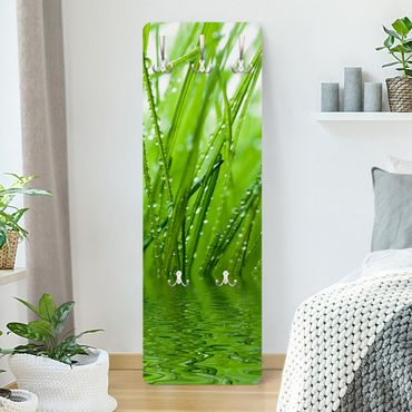 Garderobe Blumen - Morgentau - Grün