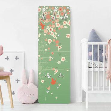 Garderobe Blumen - No.EK236 Spring Background - Grün