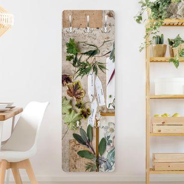 Garderobe - Blumen und Gartenkräuter Vintage