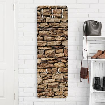 Garderobe Braun - Amerikanische Steinwand - Landhaus