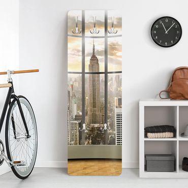 Garderobe - Büroausblick