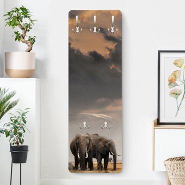 Garderobe - Elefanten der Savanne - Braun
