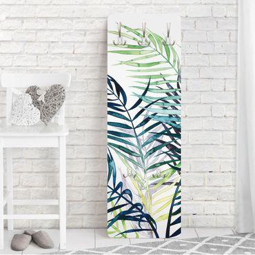 Garderobe - Exotisches Blattwerk - Palme