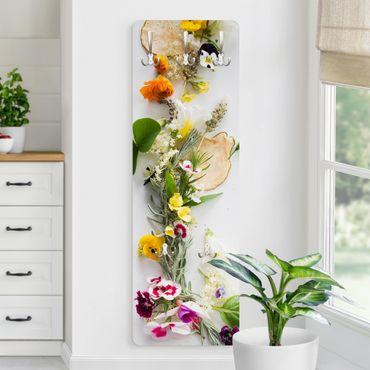 Garderobe - Frische Kräuter mit Essblüten