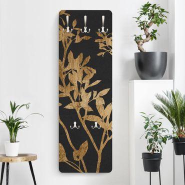 Garderobe - Goldene Blätter auf Mokka II