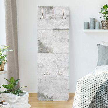 Garderobe - Große Betonplatten