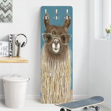 Garderobe - Lama mit Brille III