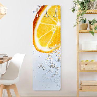 Garderobe Modern - Splash Orange - Weiß