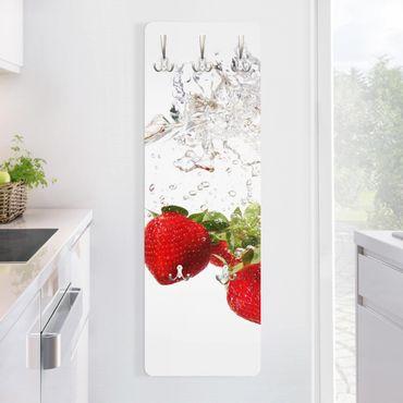 Garderobe Modern - Strawberry Water - Weiß Rot