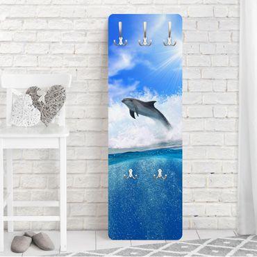 Garderobe - Playing Dolphins - Blau