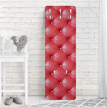 Garderobe - Polster Rot