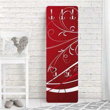 Garderobe - Red Hearts - Modern mit Muster