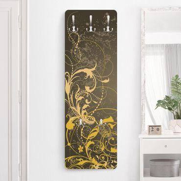 Garderobe - Schnörkel in Gold - Modern Barock mit Muster