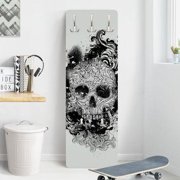 Garderobe - Skull - Schwarz