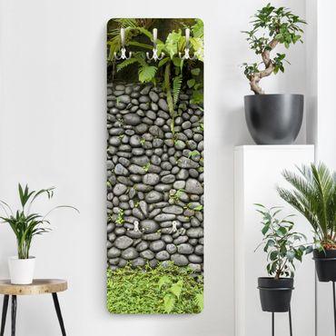 Garderobe - Steinwand Mit Pflanzen