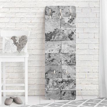 Garderobe - Steinwand Naturmarmor grau