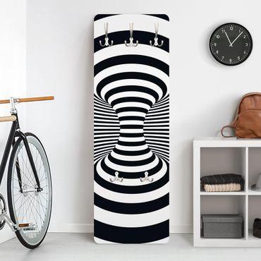Garderobe Streifenmuster - Optischer Wirbel - Weiß Schwarz