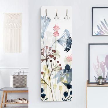 Garderobe - Wildblumen Aquarell I