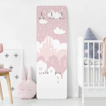 Garderobe - Wolkenschloss in rosa