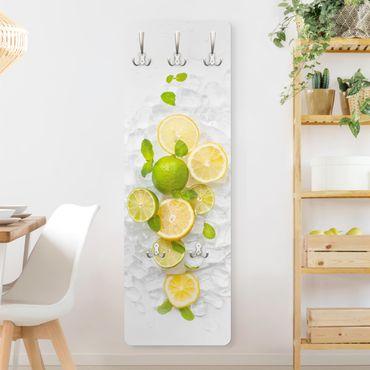 Garderobe - Zitrusfrüchte auf Eiswürfel