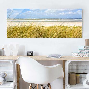 Glasbild - An der Nordseeküste - Panorama Quer