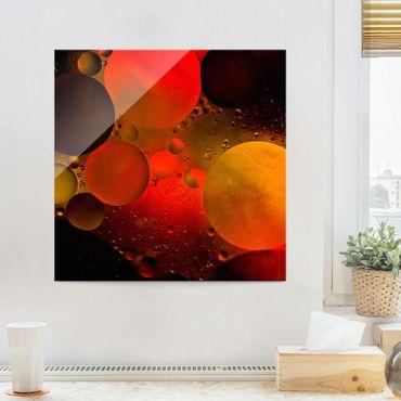 Glasbild - Astronomisch - Quadrat 1:1