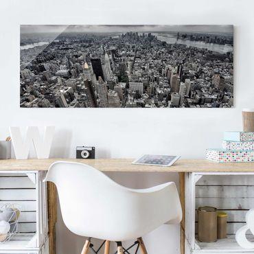 Glasbild - Blick über Manhattan - Panorama