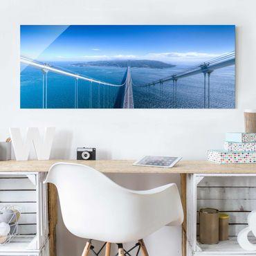Glasbild - Brücke zur Insel - Panorama